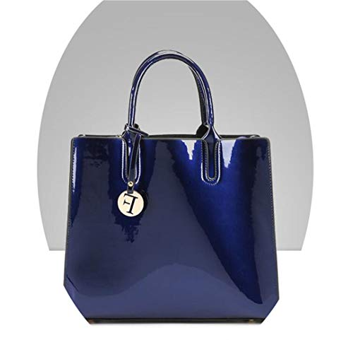 - Luxury Red Patent Leather Tote Bag Handbags Women Lacquered Handbag Bags Shoulder Bag Blue