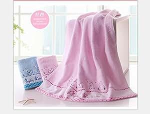Mangeoo Adultos Niños de algodón puro con gruesas toallas bordadas de dibujos animados bebé oso pequeño y precioso bebé toalla verano 130x66cm,5346WH rojo ...