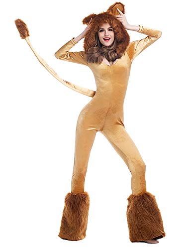 Halloween Deluxe Lion Costume Women's Animal Cute Monster