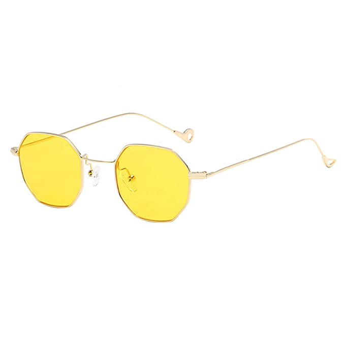 Amazon.com : YLNJYJ Moda Vintage Diseñador De La Marca De Los Hombres Gafas De Sol Cuadradas Mujeres Claro Amarillo Lente Gafas Retro Gafas De Sol para ...