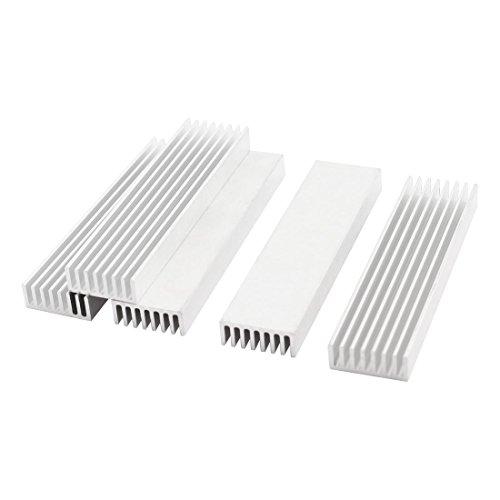 Silver Aluminium Radiator Heatsink 100x25x10mm