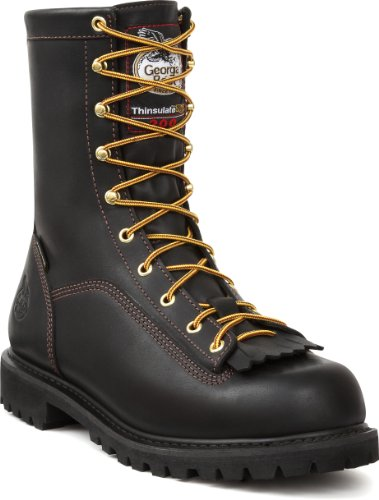 Georgia Mens 8 Gore-Tex Waterproof Low Heel Insulated Logger Work Boots®G8040