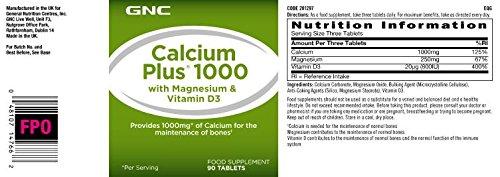 Gnc Calcio más 1000 con magnesio y vitamina D3: Amazon.es: Salud y cuidado personal