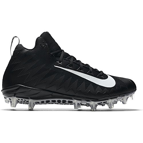 NIKE Men's Alpha Menace Pro Mid Football Cleat Black/White Size 12 M US