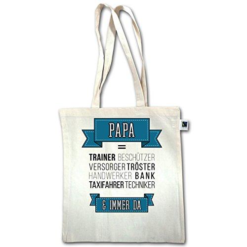 Vatertag - Papa ist.... - Unisize - Natural - XT600 - Jutebeutel lange Henkel