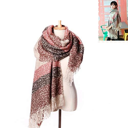 PUAG Fashion Scarves Scarf Female Autumn and Winter Imitation Cashmere Loop Yarn Knit bib Mohair Super Long Warm Shawl