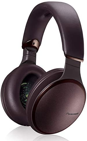 Panasonic Noise Cancelling Over The Ear Headphones with Wireless Bluetooth, Alexa Voice Control & Other Assistants – Brown (RP-HD805N-T), One Size Fits All