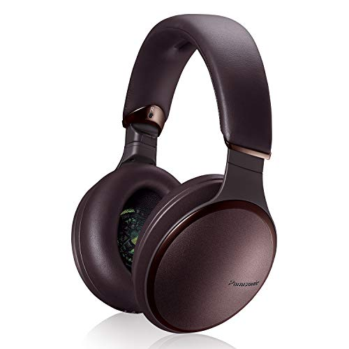 Panasonic Noise Cancelling Headphones with Wireless Bluetooth and Smartphone Siri or Google Voice Assistant - RP-HD605N-T - Over the Ear Headphone ()