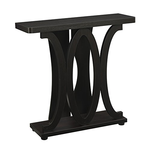 Convenience Concepts Newport Hailey Console Table, Espresso - Finish Table End Newport