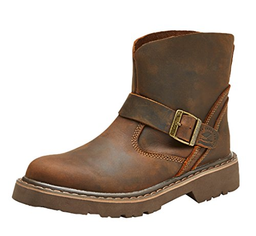 On Crazy Brown Boots Insun Leather Crazy Horse Leather Pull Men's Horse XqwZR0A