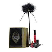 """6 Piece Erotic Playset - """"Arouse Me"""" Set - Flirty Feather Tickler with Whip, Oil of Love, Honey Dust, Love Liquid, Intensify Plus, 12 Play Cards - Limited Edition Kit by Kama Sutra"""