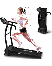 LifePlus Electric Folding Treadmill Run, Portable Fitness Motorized Jogging for Home Use with 12 Preset Programs, Easy Assembly Foldable Walk Machine Exercise for Small Spaces Apartment, Office Black