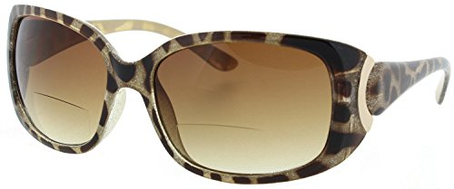 Womens Bifocal Sunglasses Sun Readers Stylish Leopard Print - Sun Stylish Glasses
