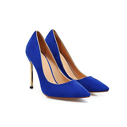 F&J JF Womens Formal Frosted High Heels Blue GVM0TC