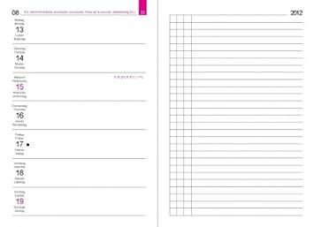 X17 recarga agenda A6 Calendario semanal izquierda 2016 ...