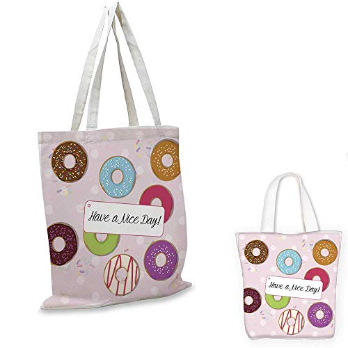 licious glazed doughnuts on a polka dot background ()
