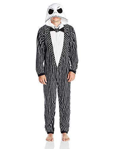 Disney Men's Nightmare Before Christmas Uniform Union Suit, Black, S