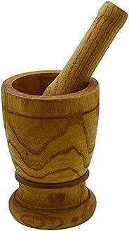 IMUSA Pilão e pilão de madeira pequeno dos EUA