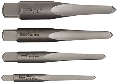 Irwin Tools 53625 Straight Flute Screw Extractors, 4 Piece S