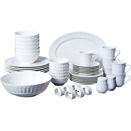 Gibson Home Regalia 46-Piece Dinnerware and Serveware - 46 Set Piece Dinner
