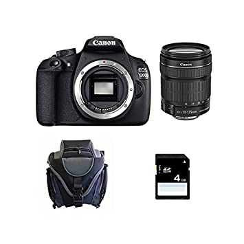 CANON EOS 1200D + 18-135 IS STM + acabado + Carte SD 4Go: Amazon ...