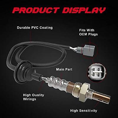TURBOSII 1pc Downstream Oxygen Sensor w//Wire For 98-02 Chevy Chevrolet Prizm,95-97 Geo Prizm,95-04 Toyota Avalon,95-02 Toyota Corolla,95-98 Toyota Paseo,95-98 Toyota Tercel 234-4061