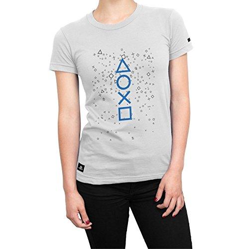 Camiseta Playstation Feminina Fizz Symbols - Branco - G