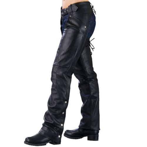 Ladies Biker Chaps with LACES ON THE BACK ()