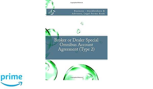 Broker Or Dealer Special Omnibus Account Agreement Type 2
