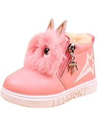 Baby's Girl's Toddler Fashion Cute Fur Lining Princess Warm Snow Boots