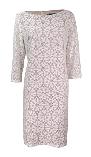 Jessica Howard Womens Illusion Lace Sheath Dress