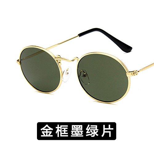 c De C Y Xue Oval 18 11 Hembra Gafas De Moda Macho zhenghao Sol Metal RRBqwA
