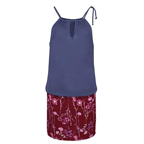 Gibobby Women's Casual Sleeveless Halter Neck Boho Print Short Dress Sundress by Gibobby_Dress (Image #2)