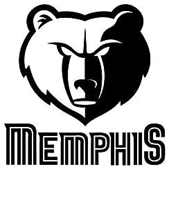 "Memphis ""Grizzlies"" Vinyl Decal ""Sticker"" For Car or Truck Windows, Laptops etc"