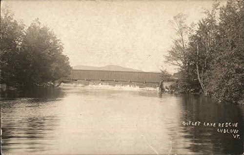 Lake Outlet (Outlet Lake Rescue - Ludlow, VT Ludlow, Vermont Original Vintage Postcard)