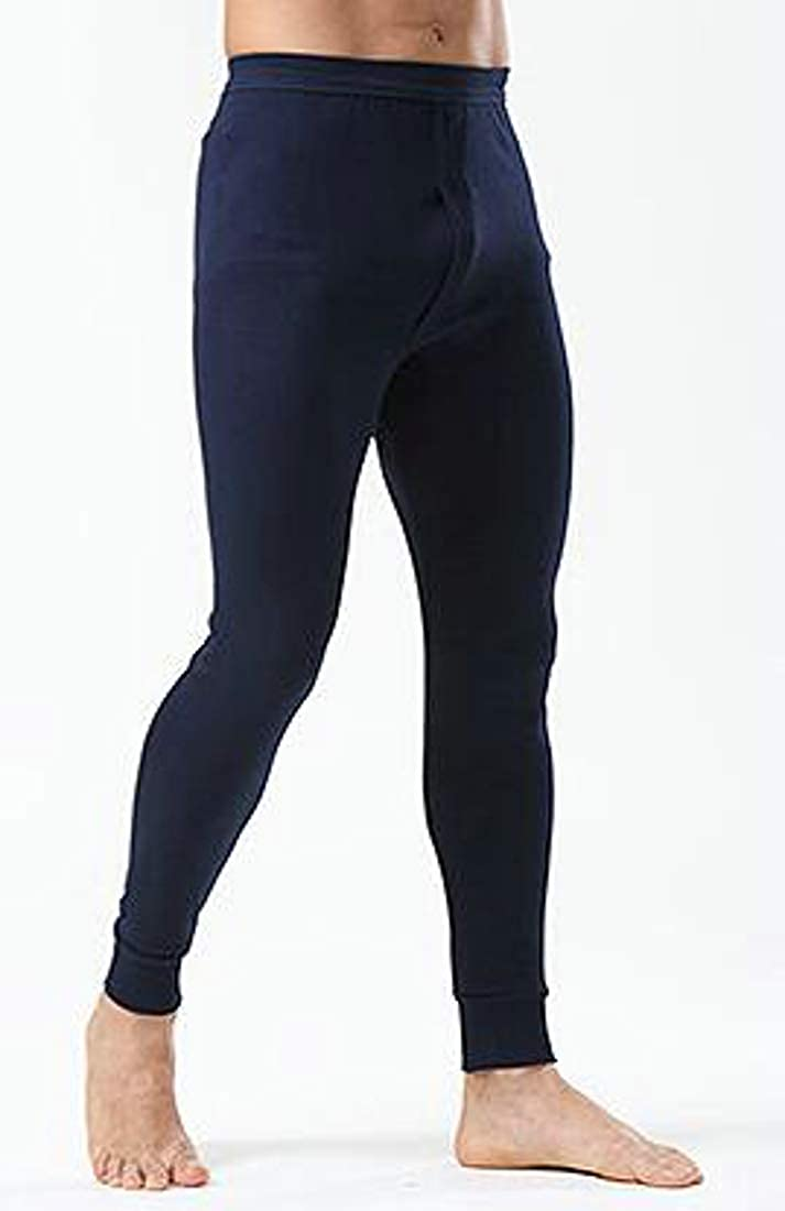 GloryA Men Underwear Legging Bottom Thermal Slim Basic Johns