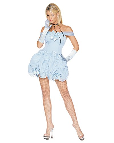 Sexy Southern Belle Short Dress theater Costume Blue Dress Off The Shoulder Sizes: Medium