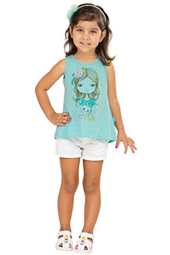 Brazil Blue Aquamarine (Pulla Bulla Toddler Girl Tank Top Graphic Sleeveless Shirt 3T Aqua Marine)