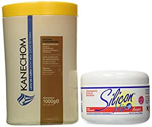Combo: Kanechom Goat's Milk (Leite De Cabra) Mask 1kg + Silicon Mix Treatment 8 Oz