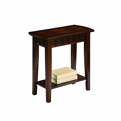 ORE International 7203 Traditional Side/End Table, 24-Inch, Light Espresso