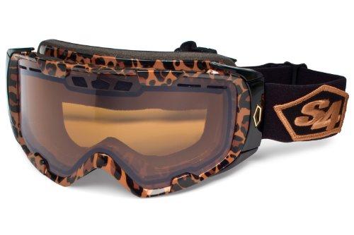 S4 Optics ALRT Snow Goggles, Leopard Print, Amber Photochromic Lens Amber Leopard