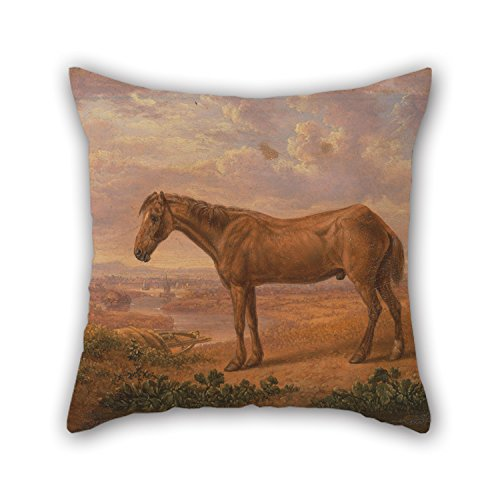 [Artistdecor Oil Painting Charles Towne - Old Billy, A Draught Horse, Aged 62 Throw Pillow Case 16 X 16 Inches / 40 By 40 Cm Gift Or Decor For Teens Her Relatives Home Theater Dinning Room - Two Sid] (Billy Corduroy)