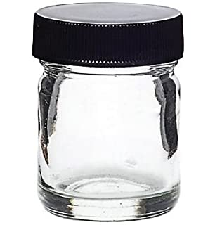 a5943da91b1 Glass Gram Jar - Air Tight Medical Marijuana Cannabis Container (Black Lid)