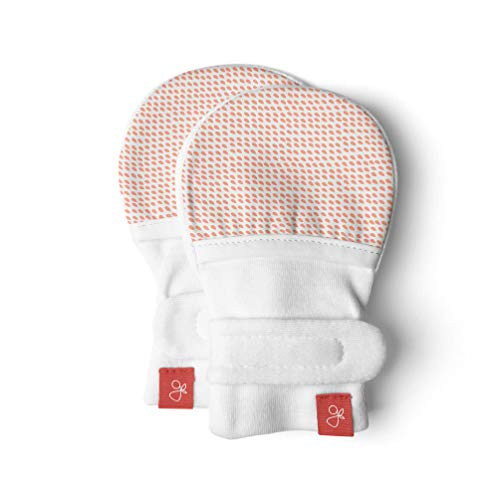 Baby Mittens, Organic, Scratch Free & Germ Resistant (Drops, Poppy, 0-3 Months)