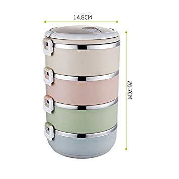 GreenSun(TM) Portable Insulation Food Container Leak Proof Thermal Bento  Lunch Box Food