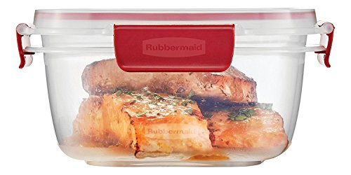 - Rubbermaid Easy Find Lids 5-Cup Food Storage Container, Clear with Red Tabs