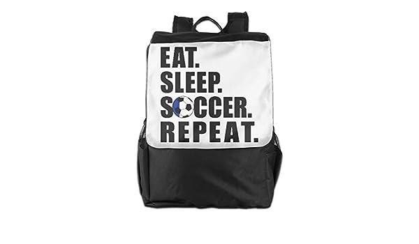 Amazon.com: Lamont Rhea Eat Sleep Soccer Repeat Messenger Bag Shoulder Backpack Travel Hiking Rucksack for Womens Mens: Sports & Outdoors
