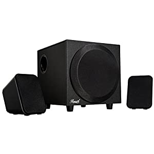 Rosewill 2.1 Multimedia Computer Speaker System with Subwoofer for Desktop, Laptop, Monitor and PC, Stereo Speaker for Computers with Accurate Positioning and Solid Bass & 2-way Satellite Audio