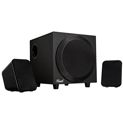 Rosewill 2.1 Multimedia Computer Speaker System with Subwoofer for Desktop, Laptop, Monitor and PC, Stereo Speaker for Computers with Accurate Positioning and Solid Bass & 2-way Satellite Audio - Multimedia Pc Laptop