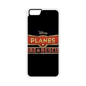Planes Fire Rescue funda iPhone 6 Plus 5.5 Inch caja funda del teléfono celular del teléfono celular blanco cubierta de la caja funda EEECBCAAL12978